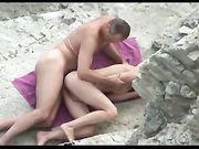 Sesso all'aperto in spiaggia