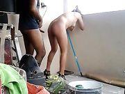 Sesso amatoriale sul balcone con una coppia messicana