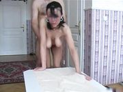 Sesso da dietro con moglie russa con grandi tette