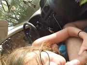 La mia ragazza fa sesso orale in macchina
